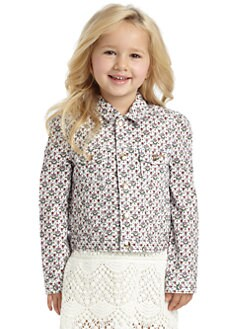 Juicy Couture - Toddler & Little Girl's Floral Denim Jacket