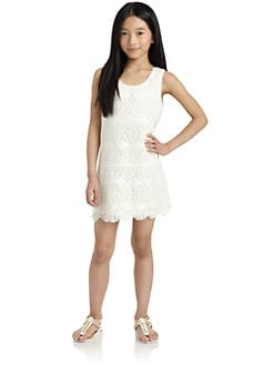 Juicy Couture - Girl's Crochet Lace Mini Dress