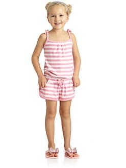 Juicy Couture - Toddler's & Little Girl's Striped Terry Romper