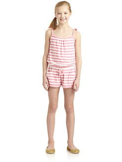 Juicy Couture - Girl's Striped Terry Romper