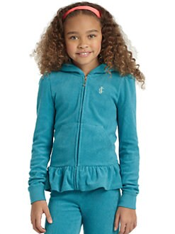 Juicy Couture - Girl's Ruffled Terry Hoodie