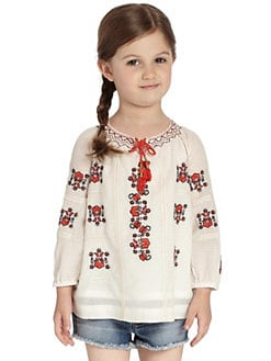 Juicy Couture - Toddler's & Little Girl's Embroidered Top
