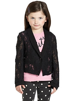Juicy Couture - Toddler's & Little Girl's Lace Blazer