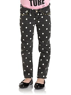 Juicy Couture - Toddler's & Little Girl's Studded Polka Dot Skinny Pants