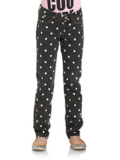 Juicy Couture - Girl's Studded Polka Dot Skinny Pants