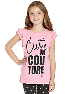 Juicy Couture - Girl's Cutie In Couture Tee