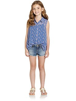 Juicy Couture - Girl's Pinwheel Blouse