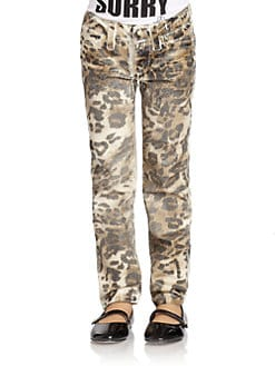 Juicy Couture - Toddler's & Little Girl's Foil Leopard Print Skinny Pants