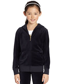 Juicy Couture - Girl's Sequin Velour Hoodie