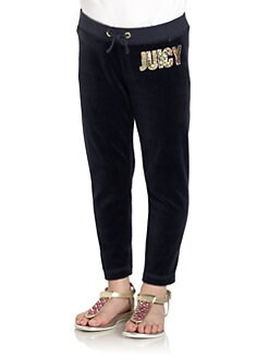 Juicy Couture - Toddler's & Little Girl's Sequined Skinny Velour Pants