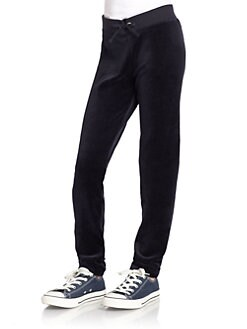 Juicy Couture - Girl's Skinny Velour Pants