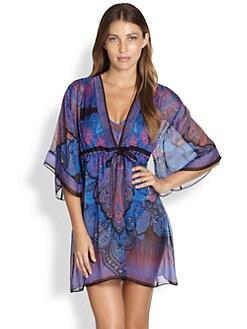 Gottex Swim - Paisley Silk Coverup Dress