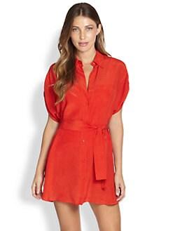 Gottex Swim - Architecture Silk Cover-Up Shirtdress