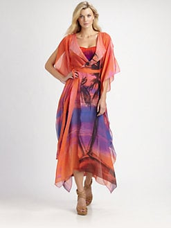 Gottex Swim - Silk Calypso Open-Front Coverup