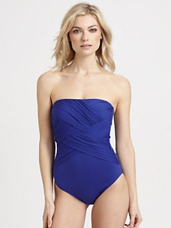 Gottex Swim - One-Piece Tropical Solid Bandeau