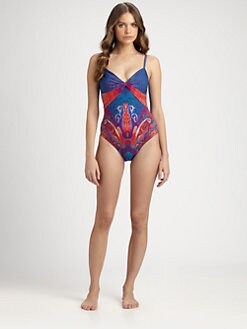 Gottex Swim - One-Piece Shangrila Ruched Swimsuit
