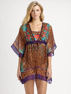 Gottex Swim - Silk Tiger Lily Beach Dress