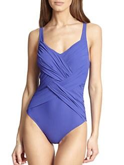 Gottex Swim - Iris Draped One-Piece Swimsuit