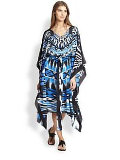 Gottex Swim - Anguilla Printed Silk Caftan