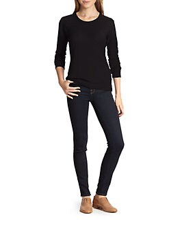 James Perse - Cotton Jersey Long-Sleeved Tee