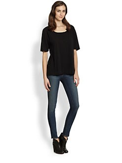 James Perse - Cotton Jersey Boyfriend Tee
