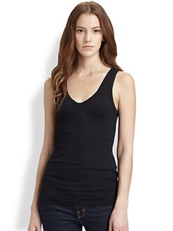 James Perse - Ribbed V-Neck Tank Top