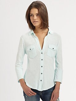 James Perse - Contrast Panel Shirt