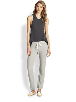 James Perse - Cotton Jersey Racerback Tank
