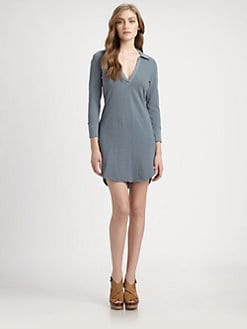 James Perse - Three-Quarter Sleeve Polo Dress