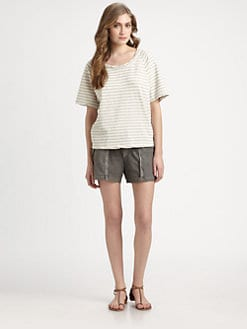 James Perse - Short-Sleeve Dolman Sweat Top