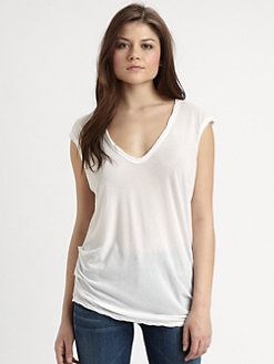 James Perse - Asymmetrical V-Neck Top