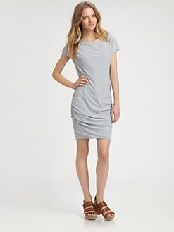 James Perse - Boatneck Cap-Sleeve Dress