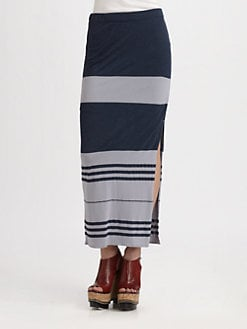 James Perse - Striped Maxi Skirt