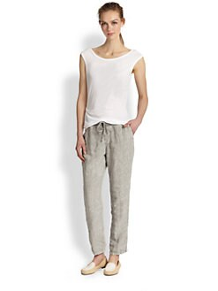 James Perse - Asymmetrical Tucked Cotton Jersey Tee