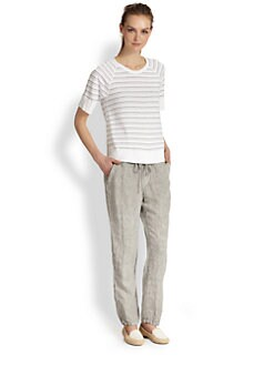 James Perse - Raglan-Sleeved Striped Cotton Tee