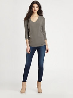 James Perse - Relaxed Ruched T-Shirt