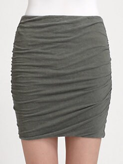 James Perse - Ruched Mini Skirt