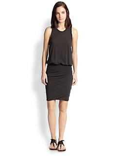 James Perse - Sleeveless Racerback Blouson Knit Dress