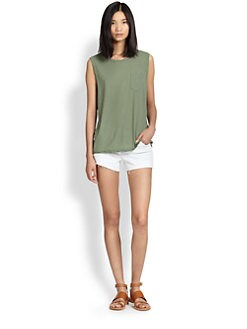James Perse - Shell Cotton Jersey Muscle Tee