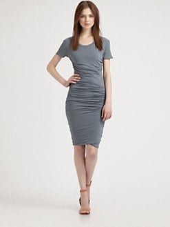 James Perse - Ruched T-Shirt Dress