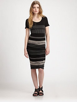 James Perse - Striped T-Shirt Dress