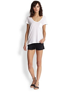 James Perse - Sheer Cotton Slub Tee
