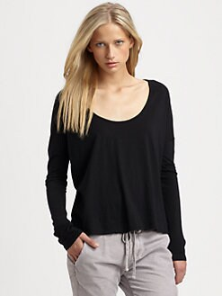 James Perse - Boxy Supima Cotton Top