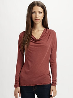 James Perse - Cowlneck Jersey Top