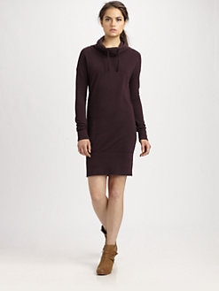 James Perse - Funnelneck Sweatshirt Dress