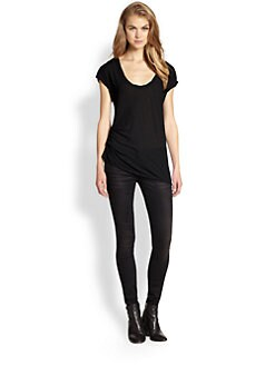 James Perse - Asymmetrical Tuck Tee