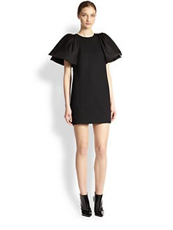 Giambattista Valli - Wool Puffed-Sleeve Mini Dress