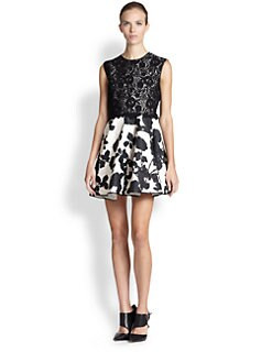 Giambattista Valli - Mixed-Media Jacquard Dress