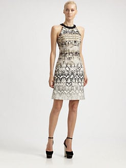 Giambattista Valli - Reptile Print Halter Dress