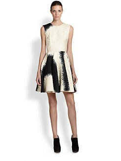 Giambattista Valli - Silk Jacquard Flare Dress